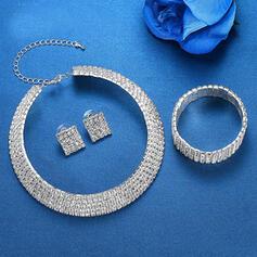 Lysande Legering Strass Smycken Sets Halsband örhängen Armband (Sats om 3)