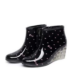 Kvinnor PVC Kilklack Kilar Stövlar Gummistövlar skor