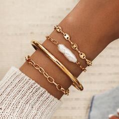 Hetaste Länk & kedja Legering Resin Smycken Sets Armband 4 st