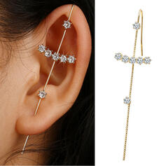 Shining Simple Cross Alloy Rhinestones Women's Earrings