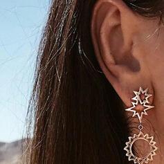 Moon Alloy With Star Women's Earrings 2 PCS