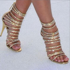 Women's Sparkling Glitter Stiletto Heel Sandals Pumps Peep Toe Heels With Sparkling Glitter shoes