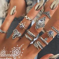 Hetaste Snygga Legering Smycken Sets Ringar (Set av 12 par)