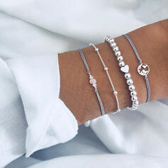 Fashionable Cool Alloy Bracelets (Set of 4 pieces)
