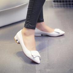 Kvinnor PU Tjockt Häl Pumps Spetsad tå med Andra skor