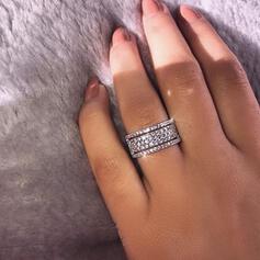 Charming Fancy Alloy Zircon Rings