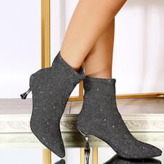 Women's Sparkling Glitter Stiletto Heel Boots Ankle Boots With Solid Color shoes