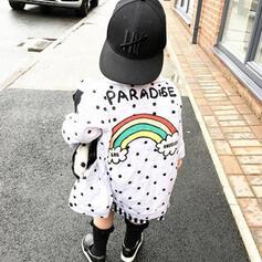 småbarn flicka Brev Print Bomull Ytterkläder