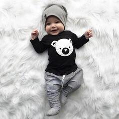 2-pieces Baby Boy Bear Animal Print Cotton Set