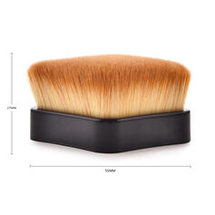 Shell Design Handle Microfiber Face brushes With OPP Bag