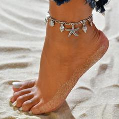 Sjöstjärna Hetaste shell Shaped Legering Strand smycken Fotlänk