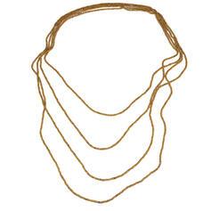 Bohemisk Romantiskt Pärlor Glas med Pärlor Kvinnor Halsband 4 st