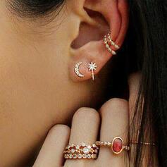 Stjärnor Legering Strass Smycken Sets örhängen Ringar (sats om 8)