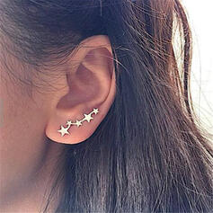 Simple Star Alloy Earrings 2 PCS