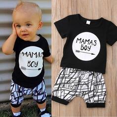 2-pieces Baby Boy Letter Print Cotton Set