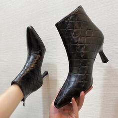 Women's Microfiber Stiletto Heel Pointed Toe shoes
