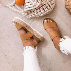 PU Flat Heel Sandals Flats Platform Peep Toe With Others shoes