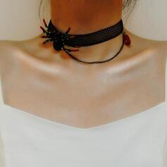 Halloween Spindel Gotiska Legering Spets Halsband