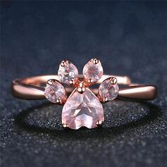 Shining Beautiful Alloy Zircon Women's Rings