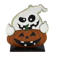 Colourful Gothic Horrifying Wall Mounted Ghost Pumpkin Wooden Halloween Props Halloween Decorations (Sold in a single piece)