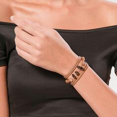 Attraktiv Elegant Skiktad Legering med Akryl Armband