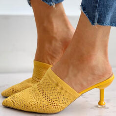 Kvinnor Flying Weave Stilettklack Pumps Spetsad tå med Ihåliga ut skor