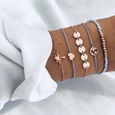 Legering Smycken Sets Armband (Sada 5 párov)