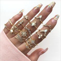 Hetaste Snygga Legering Smycken Sets Ringar