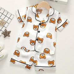 2-pieces Baby Cartoon Bear Print Cotton Set