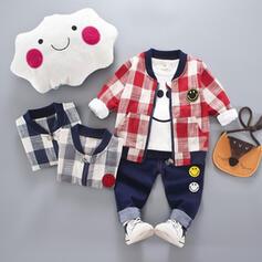 3-pieces Baby Boy Plaid Cotton Set
