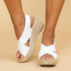 PU Wedge Heel Sandals Wedges Peep Toe Heels shoes