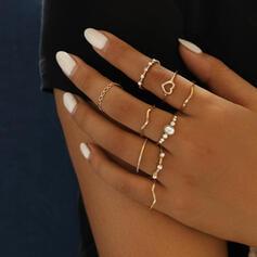 Modern Legering Kristall Smycken Sets Ringar (Sats om 9)