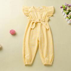 Toddler Girl Ruffle Plaid Jumpsuit