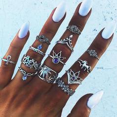 Exotisk Bohemisk Legering Ringar Strand smycken (sada 13)