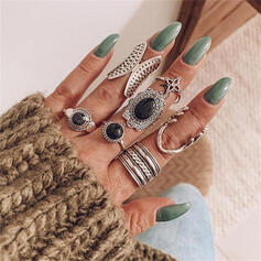 Bohemisk Rund Legering med Diamant Ringar 7 st