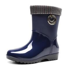 Gummi Låg Klack Gummistövlar skor