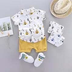 2-pieces Toddler Boy Print Cotton Set