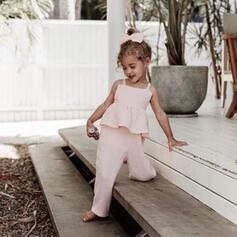 småbarn flicka Rand Bomull Jumpsuit