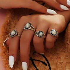 tappning utformar Legering med Pärla Ringar 4 st