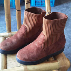 Kvinnor Mocka Flat Heel rund tå med Solid färg skor
