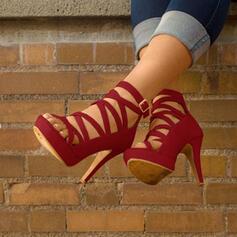 Kvinnor PU Stilettklack Sandaler med Spänne skor