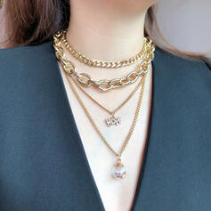 Modern koppar Glas Smycken Sets Halsband (4 st)