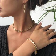 Klassisk stil Länk & kedja Legering Smycken Sets Halsband örhängen Armband 4 st