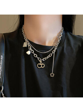 Cherry Pretty Elegant Alloy With Flower Fruit Pearls Women's Ladies' Girl's Necklaces