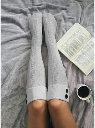 Solid Color Breathable/Comfortable/Women's/Calf Socks Socks/Stockings