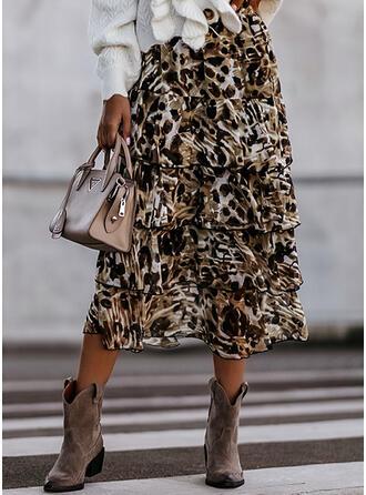 Chiffon Leopard Maxi Sexy Plus Size