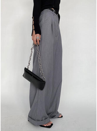Solid Casual Vintage Lounge Pants