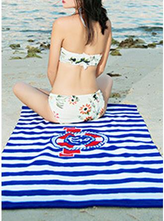 Randig/Retro /Årgång/Geometrisk Bekväm/Multifunktionella/sand gratis/Snabbtork handduk