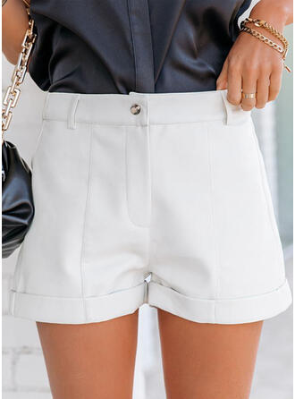 Solid Pockets Solid Shorts