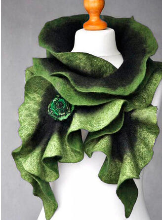 Solid Color/Retro/Vintage/Rose fashion/Leaves Shaped Scarf